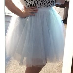 Pale blue tulle party skirt xxl